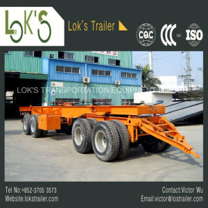 4axles Skleleton Full Trailer (2front+2rear axles with drawbar and turntable) pictures & photos