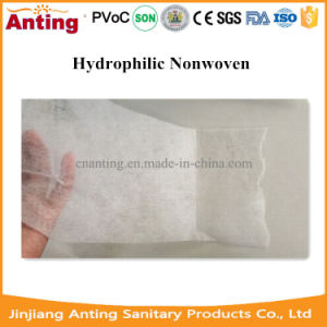 Hydrophilic Nonwoven Fabric Roll for Disposable Diapers and Sanitary Napkins pictures & photos