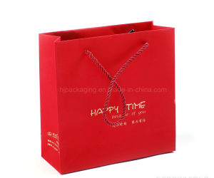 New Designs Rope White Handle Paper Bag Gift Bag with Logo Print pictures & photos