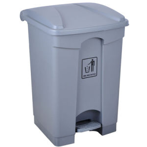 25L Grey Plastic Push-Down Lid Waste Bin pictures & photos