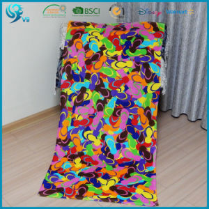 Wholesale 100% Cotton Velour Reactive Printed Beach Towel pictures & photos