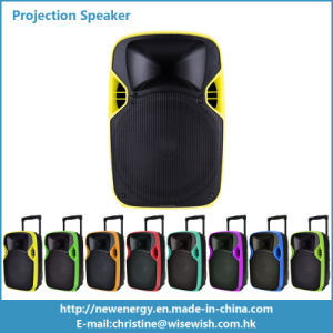 12 Inches Plastic Trolley Stage LED Projection Speaker with Battery pictures & photos