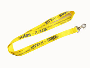 Yellow Color Silkscreen Printed Lanyard with Custom Logo pictures & photos