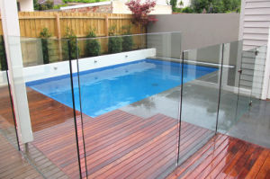 Frameless Glass Railing, 10mm 12mm 15mm 19mm Toughened / Tempered Glass pictures & photos