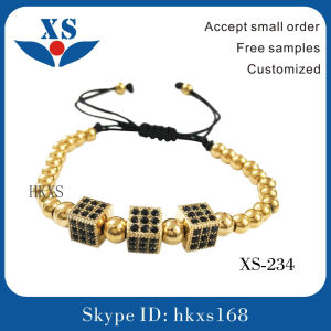 High Quality Stainless Steel Men Bead Bracelets pictures & photos