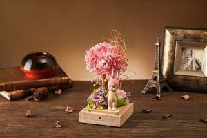 Fashion 100% Natural Real Rose Flower in Glass for Valentine Gift pictures & photos
