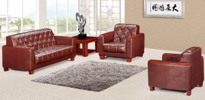 Italy Design Classic Wooden Office Furniture Leather Office Sofa (NS-D8012) pictures & photos