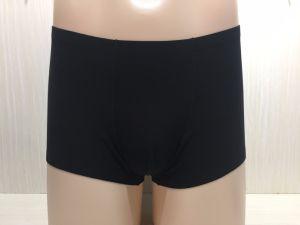 Black Boxer Briefs Plain Men Underwear with Silver Fiber pictures & photos