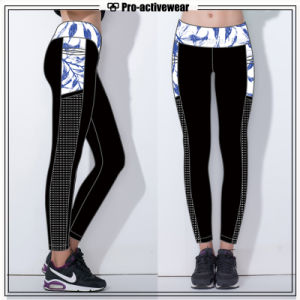 Custom Sports Wear OEM Service Women Lycra Yoga Leggings Tights pictures & photos
