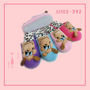Winter Warm Beautiful Indoor Bedroom Plush Animal Slippers TPR pictures & photos