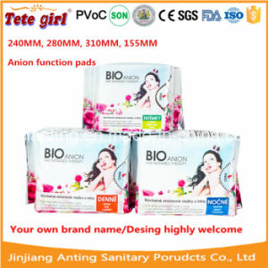 2015 Hot Sell Disposable Women Sanitary Napkin for Africa, Cotton Ladies Pads, Anion Sanitary Napkin pictures & photos