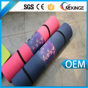 Beautiful TPE Yoga Mats Custom Yoga Mat with Carrying Strap pictures & photos