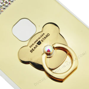 TPU Soft Wtih Rhinestones Mirror Metal Ring Case for iPhone 7 7plus Electropalting Phone Case (XSP-0002) pictures & photos