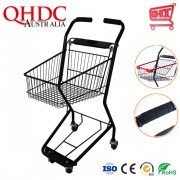 Supermarket Food Court Trolley Metal Shopping Basket Trolley Cart