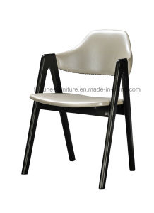 Leather Upholstered Solid Wood Dining Chair (I&D-8031)