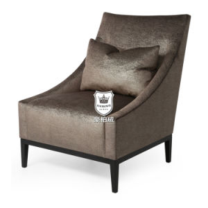 Luxurious Upholstered Hotel Chair with Scatter Cushion pictures & photos