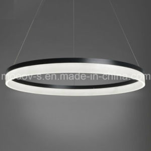 Modern Simple Hanging Decorative Cycle Ring Acrylic LED Pendant Light pictures & photos