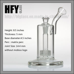 Hfy Glass 9 Inches Mobius Smoking Glass Water Pipe with Matrix Perc for Oil Bubbler in Stock pictures & photos
