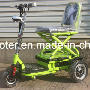 Ce Certificated 3 Wheels Smart Folable Electric Motorcycle for Handicapped pictures & photos
