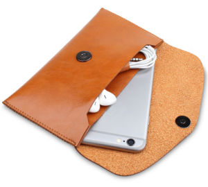Leather Mobile Phone Wallet for iPhone6 Case with Credit Card Slots Wallet Phone Case pictures & photos