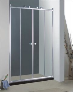 Bathroom 6mm Big Roller Double Sliding Door Shower Enclosure (BR940) pictures & photos