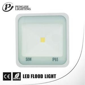 50W High Lumen 70-80lm/W White Reflector COB LED Flood Light pictures & photos