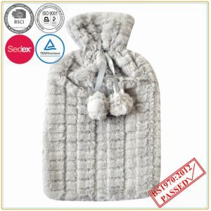 PV Plush Hot Water Bottle Cover with Pompom pictures & photos