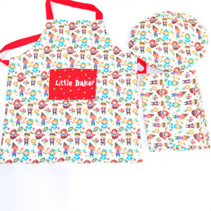 100%Cotton Printed Kids Kitchen Cooking Work Apron pictures & photos