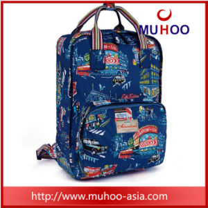 Fashion Flower Handbag Laptop School Bag Travel Backpacks for Outdoor pictures & photos