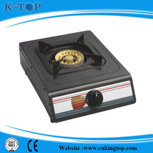 Black Coated Panel Simple Gas Stove pictures & photos
