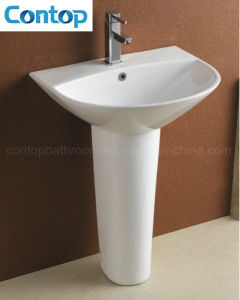 Ceramic Wash Hand Basin with Pedestal pictures & photos