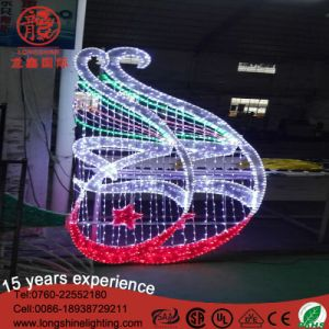 IP44 IP65 220V Christmas Ramadan Decoration Motif Street Pole Rope Light pictures & photos