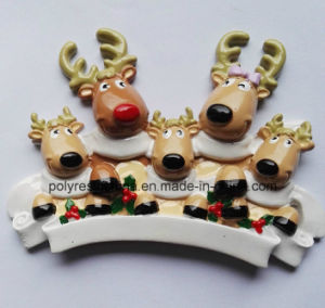 Polyresin Family Reindeer for Christmas Ornament pictures & photos