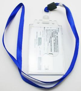 OEM PVC Card Holder with Lanyard Neck Strap pictures & photos