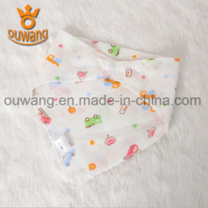 Manufacture New Design Baby Bandana Bibs Triangle Baby Bib 100% Organic Cotton pictures & photos