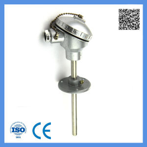 Chemical Industry Assembly K Type Thermocouple with Flexible Flange Waterproof Wrn-330 pictures & photos