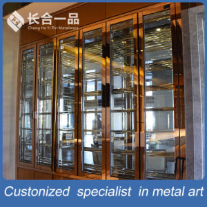 Customized Stainless Steel Hairline Rose Gold Wine Cellar for Club/Hotel pictures & photos
