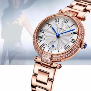Fashion Crystal Ladies Quartz Wrist Watch Women Rose Gold Jewelry Watch with 10ATM Waterproof Quality 71041 pictures & photos