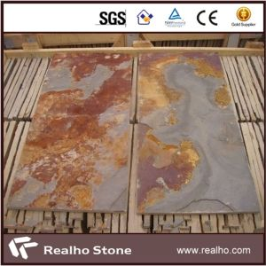 Natural Culture Stone Multicolor Rust Slate Tile for Wall pictures & photos