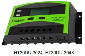Ht30du Series10A 20A 30A PWM Solar Charge Controller with LCD Display pictures & photos