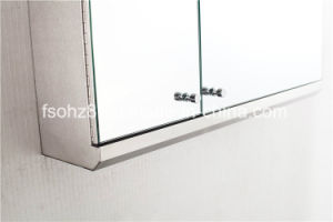 Modern Corner Stainless Steel furniture Bathroom Big Storage Cabinet (7068) pictures & photos
