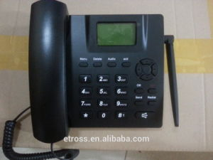 Ets 6188 GSM 2g&3G SIM Card Wireless Desk Phone with Voice, SMS, FM Radio Function pictures & photos