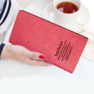 Thin Korean Couple Long Soft Handbag Long Ladies Purse Wallet pictures & photos