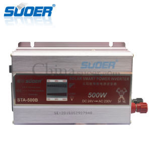 Suoer DC 24V to AC 230V 500W Smart Modified Sine Wave Power Inverter (STA-500B) pictures & photos