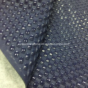 Latest Artificial Leather Cloth Shinny Materials Fake Woven Emboss pictures & photos