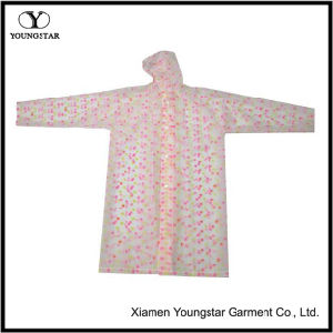 Promotional Fashion Pink Color PVC Rain Wear for School Girls pictures & photos