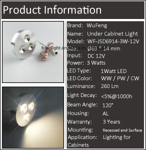 3W Spot Light Downlight Display Light pictures & photos