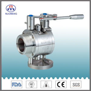 Sanitary Stainless Steel Manual Threaded Butterfly Valve with Trapway (Type 2) pictures & photos