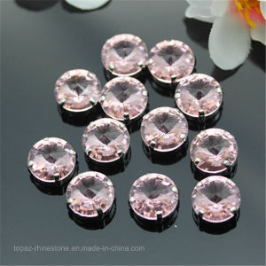 Diamond Rhinestone Factory Sew on Crystal Fancy Stone for DIY Clothing Accessories (SW-Rivoli 14mm) pictures & photos