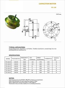 Electrical Motor AC Electric Fan Motor for Air Conditioner in Refrigeration pictures & photos